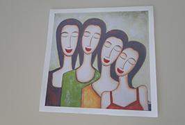 Canvas Oil چاپ شده توسط 2.5 متر (8 فوت) چاپگر اکولوژیکی حلال WER-ES2502 2