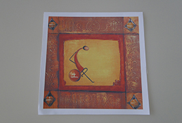 Canvas Oil چاپ شده توسط 2.5 متر (8 فوت) چاپگر اکولوژیکی حلال WER-ES2502 3